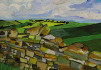 Acrylic painting of Hadrian's Wall