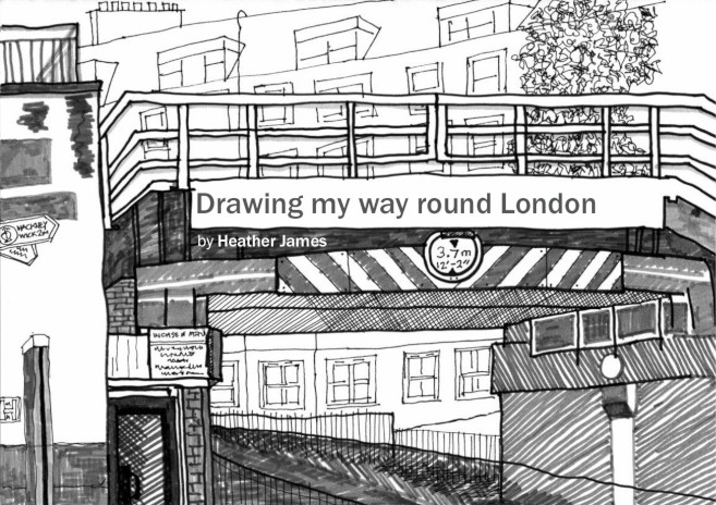 Front cover drawing from Drawing my way round London